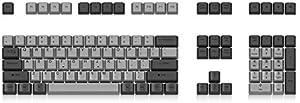 KISENG キーキャップセット 108キー OEMプロファイル PBT 染料昇華 メカニカルキーボード交換用 グレー