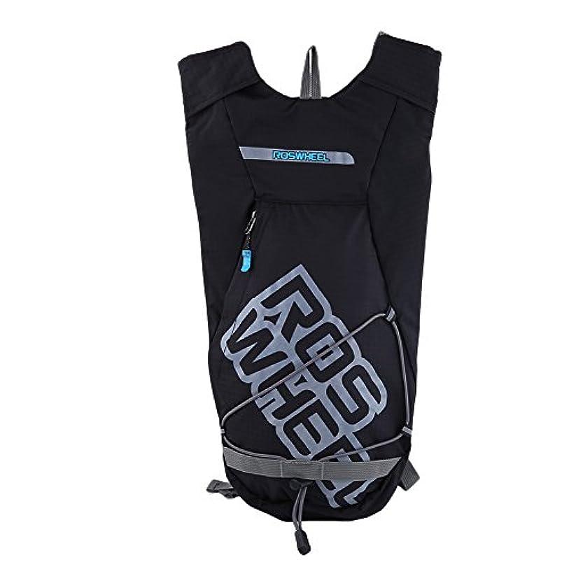 中庭円形間隔自転車バックパック ハイドレーションバックパック 1.5L ポータブル 防水 軽量 通気性 多機能 サイクリング ハイキング 旅行 アウトドア用 ブラック