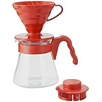 Hario V60 Pour Over Coffee Starter Kit, Size 02, Red [並行輸入品]