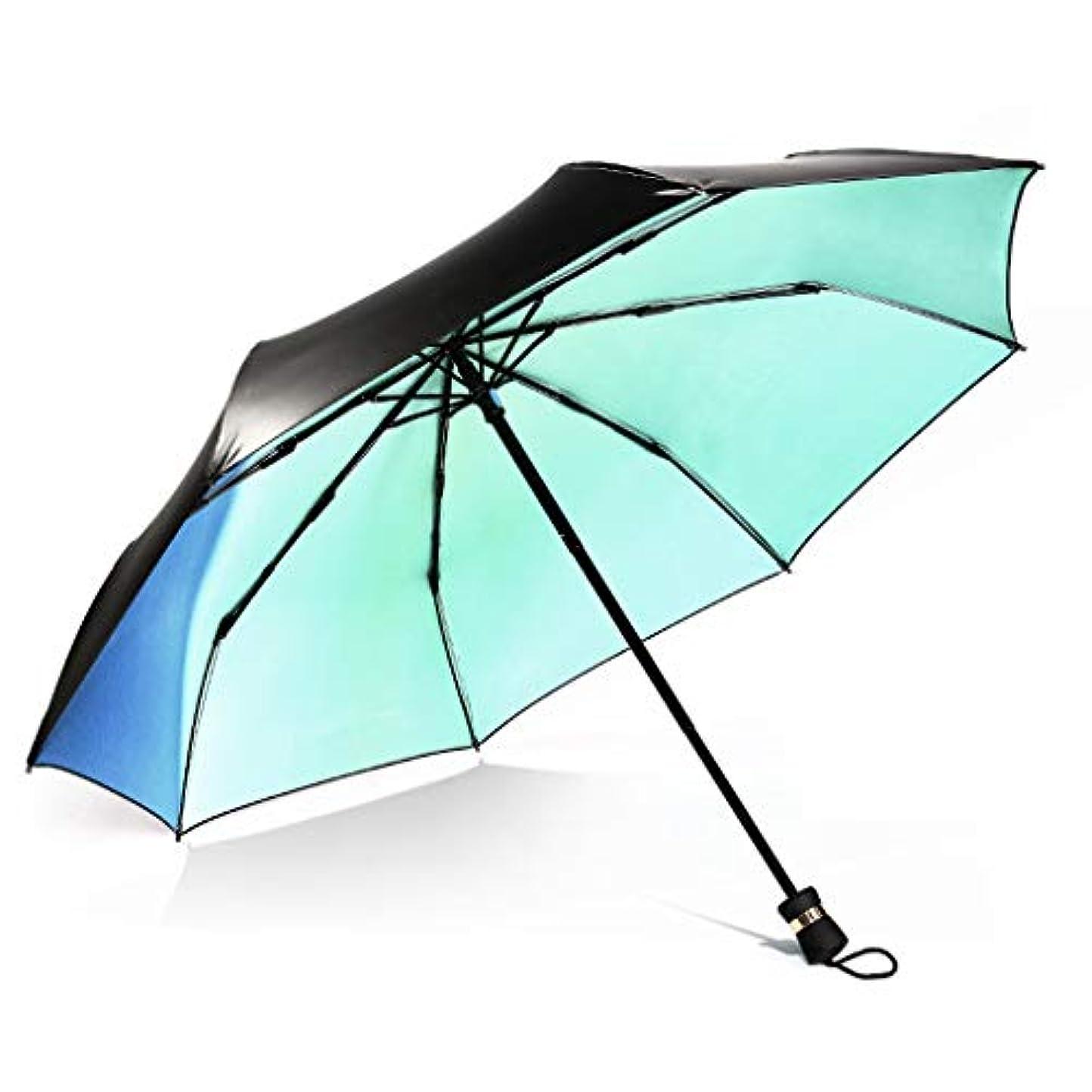 運ぶ優勢同一性油絵創造的な折りたたみ太陽傘グラデーションカラー傘抗UV傘傘 ズトイビー (Color : A)