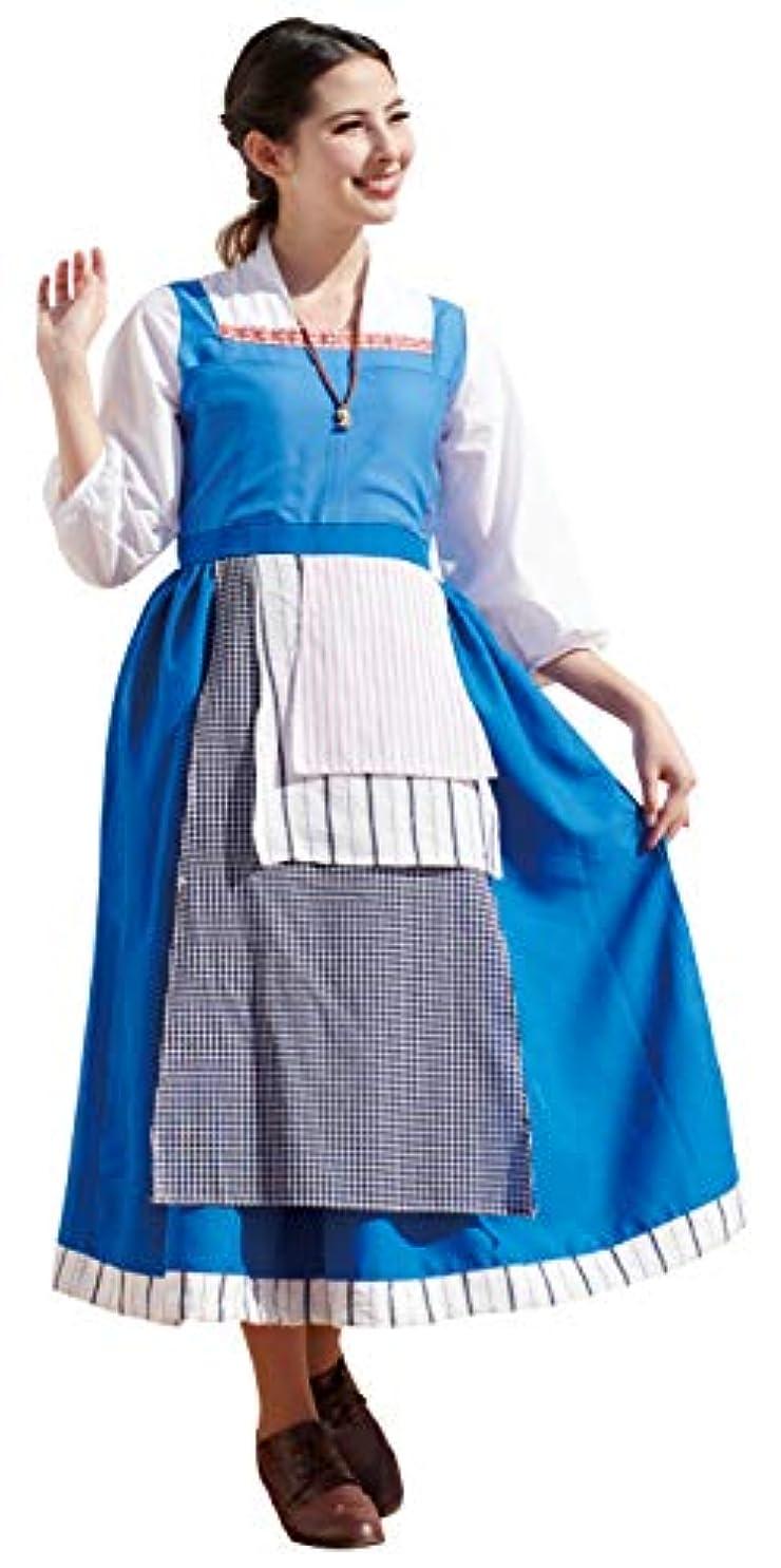 けがをするスイング太字ディズニー 美女と野獣 ベル町娘 コスチューム レディース 155cm-165cm