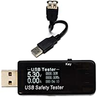 waves QC3.0 USB チェッカー 電圧 電流 容量 消費電力 時間 電力 計測