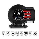 iKiKin 車用 スピードメーター ヘッドアップディスプレイ HUD OBD2 DC12V タコメーター LEDスクリーン 多機能デジタルメーター 6つのディスプレイモード 水温計 電圧表示 速度計 過速度警告搭載 F8 2020 新年祝い