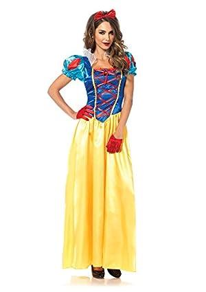 LEG AVENUE(レッグアベニュー) Classic Snow White ロングドレス リボンヘッドセット M マルチ 85407