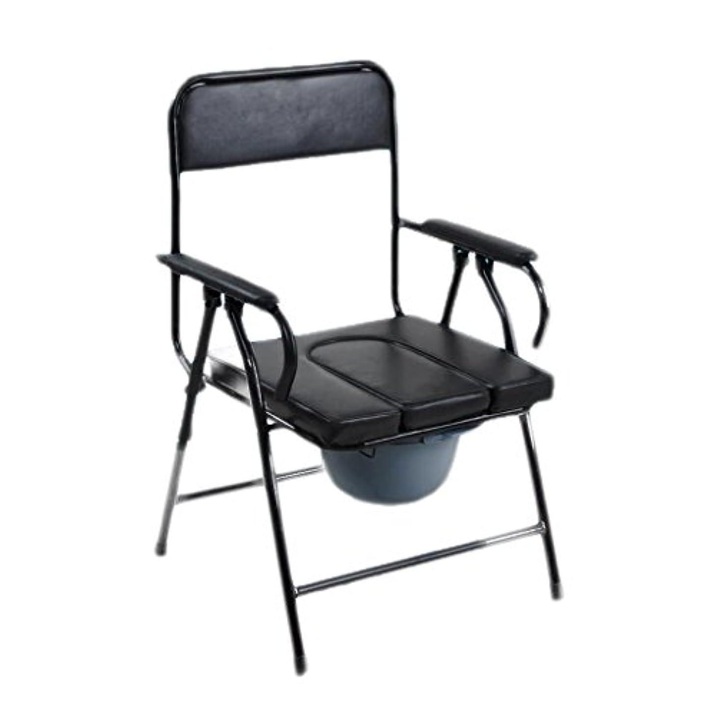 取得する滑る処方する厚い鋼管老人便器椅子折り畳み式トイレ可動式トイレ老人用トイレチェアトイレチェア