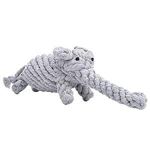 PEHOST 犬 おもちゃ 丈夫 ロープのおもちゃ 噛む ぬいぐるみ 歯磨き ストレス解消 ゾウ