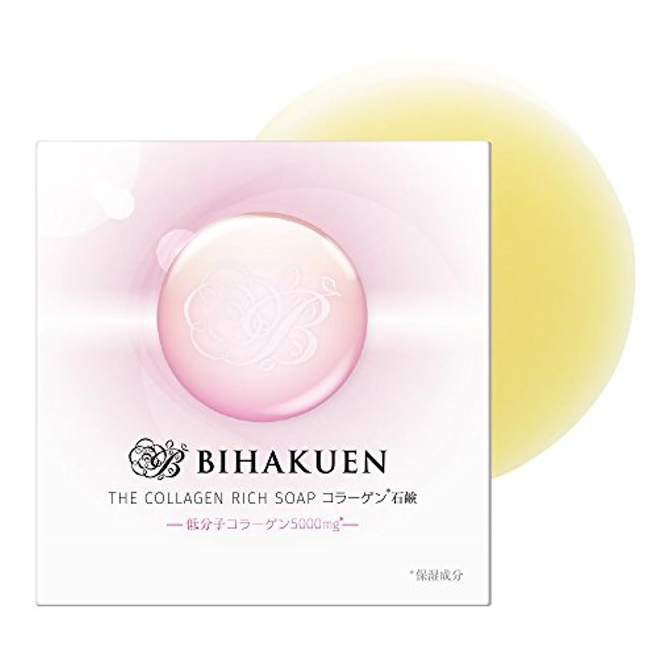 形それから塗抹(BIHAKUEN)コラーゲン石鹸100g (1個)