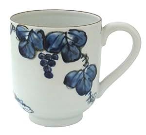 京焼 清水焼 紫峰窯 マグカップ 青葡萄 D4-8青