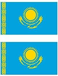カザフスタン 国旗 フェイス シール 2枚入り ( 国旗 ペイント タトゥー シール )