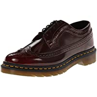 Dr Martens Vegan 3989 - Cherry Red Cambridge Brush (Man-Made) Womens Shoes