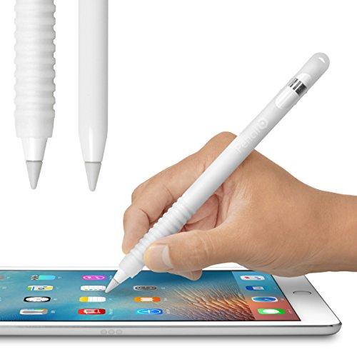 Pencil Barrier™(クリアホワイト)Apple Pencil を保護しグリップ力をアップする シリコン製カバー・充電時のキャップ紛失を防ぐ収納ヘッド搭載・〜 ペンシルバリア〜