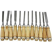 Homyl 高品質 木製 彫刻 手彫り ツール 木工用 切削 工芸品作り 12本セット
