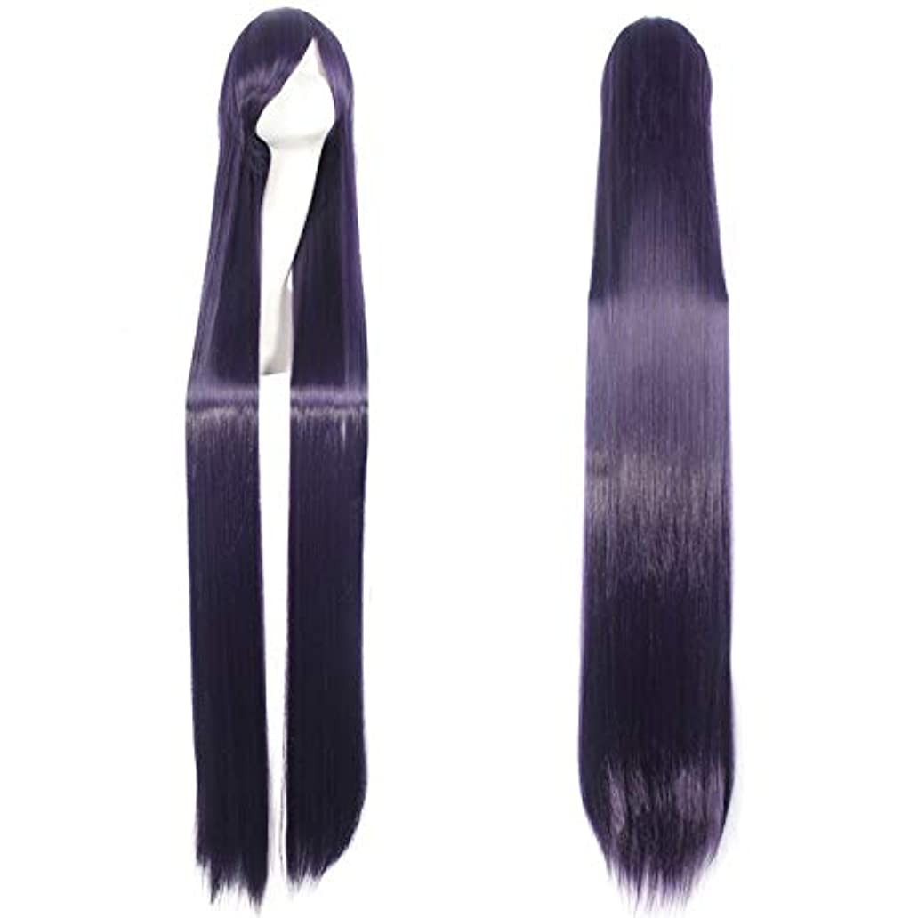 緯度普通に聖職者BeTTi 150センチパープルロングストレートかつら59 ''女性耐熱合成髪アニメコスプレウィッグハロウィンパーティー衣装アクセサリー (Color : Number 6)