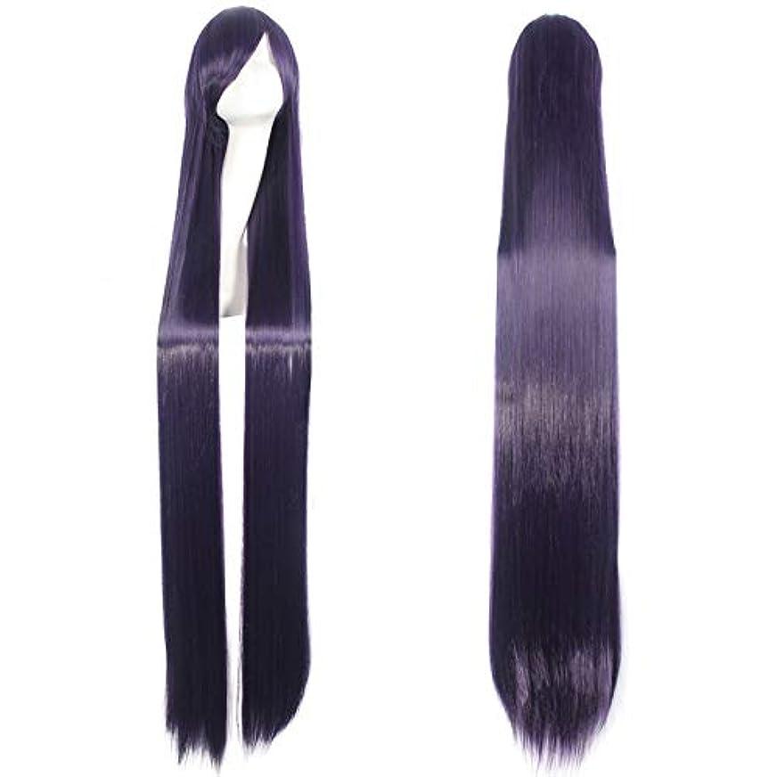 リザイ 150センチパープルロングストレートかつら59 ''女性耐熱合成髪アニメコスプレウィッグハロウィンパーティー衣装アクセサリー (Color : Number 6)