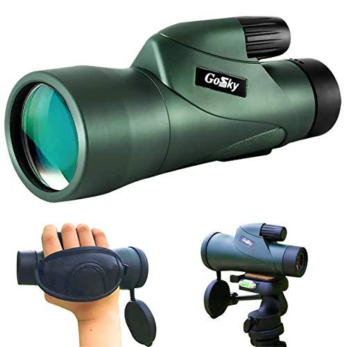 Gosky Skyhawk 10x50 単眼鏡 - 高精細防水フォグ - 耐衝撃性 単眼鏡 - Bak4 プリズム FMC バードウォッチング ハンティング キャンプ 旅行 野生動物の秘密