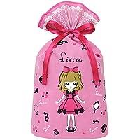 インディゴ タカラトミー リカちゃん ラッピング袋 ギフトバッグL ピンク TA092