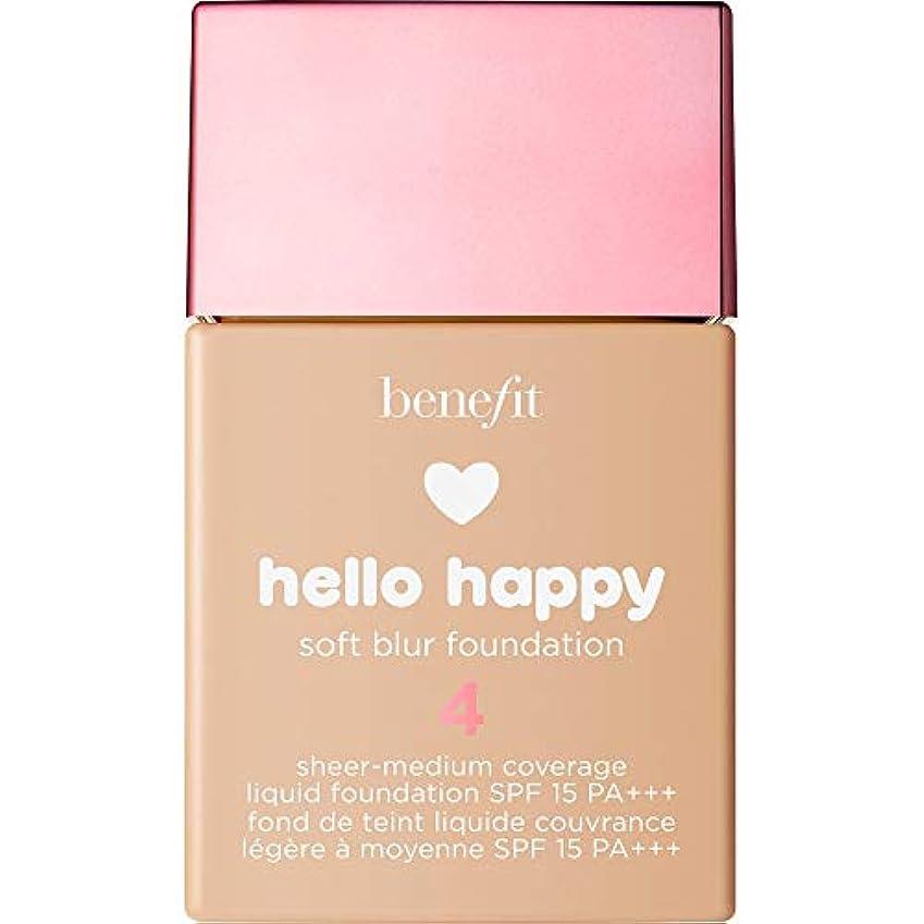 召集する前ひねくれた[Benefit] 利点は、ハロー幸せソフトブラー基礎Spf15 30ミリリットル4 - メディアニュートラル - Benefit Hello Happy Soft Blur Foundation SPF15 30ml...