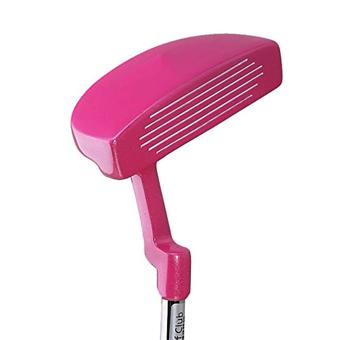 スーツケースマッシュジョージエリオットゴルフクラブ パター 人格ピンク女性ゴルフパター子供用ゴルフクラブ初心者練習ポール右手左手使用ゴルフ練習クラブ(3?12歳) ロブウェッジゴルフクラブ (Color : Pink, Size : Height 135-150cm)