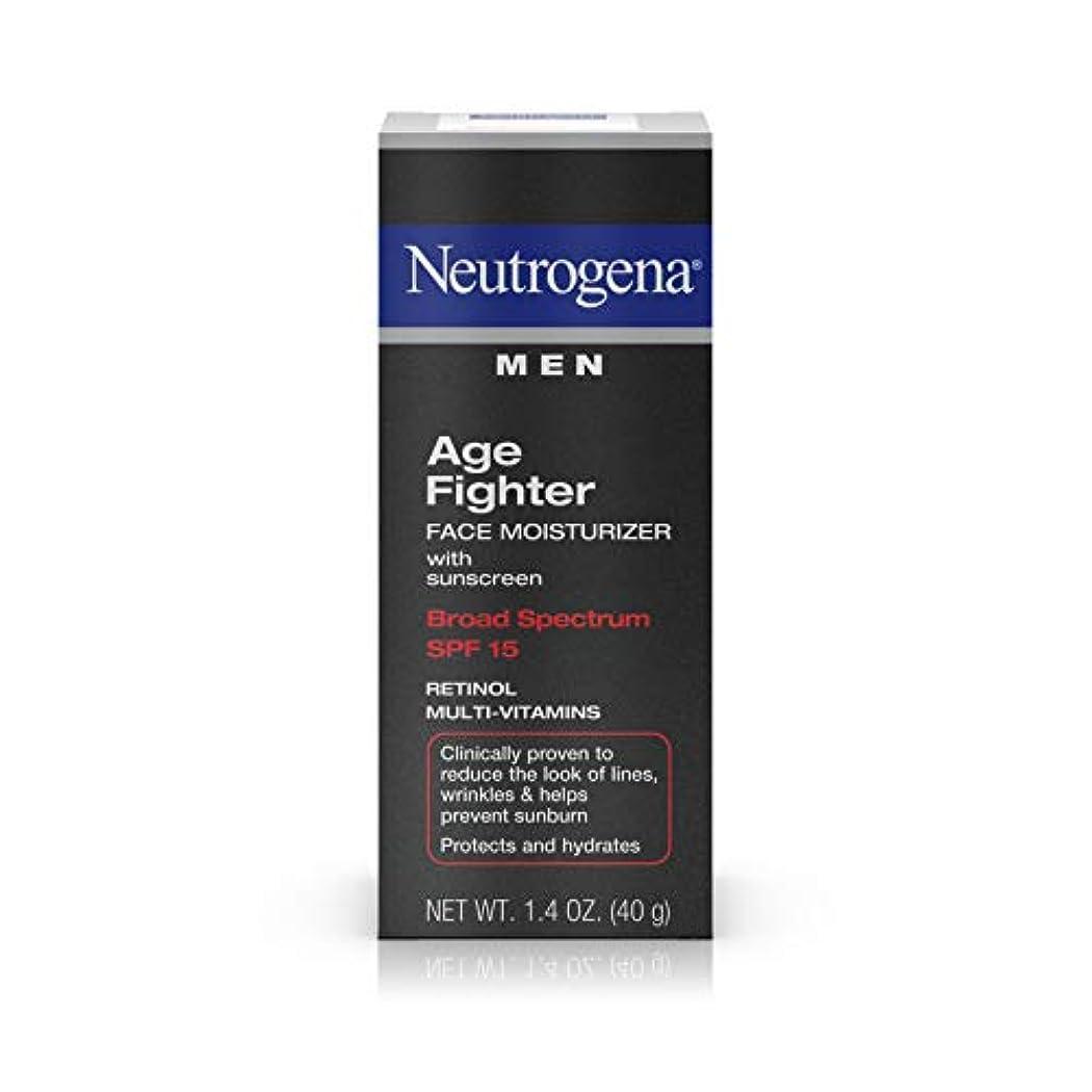 タンパク質見習い忘れられないNeutrogena Men Age Fighter Face Moisturizer with sunscreen SPF 15 1.4oz.(40g) 男性用ニュートロジーナ メン エイジ ファイター フェイス モイスチャライザー