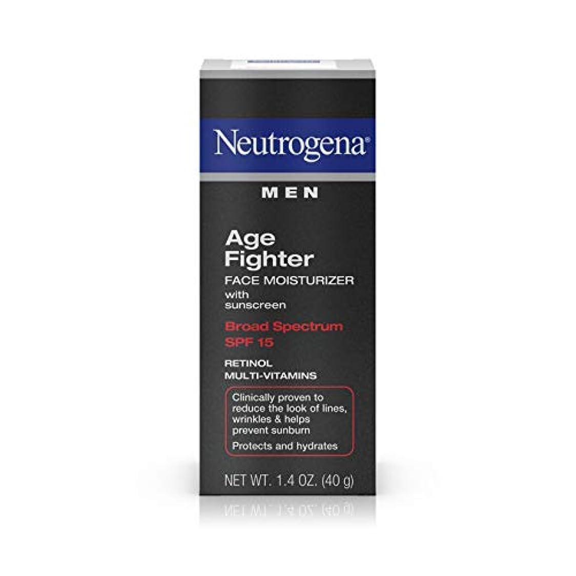 ヤングリーチ保険をかけるNeutrogena Men Age Fighter Face Moisturizer with sunscreen SPF 15 1.4oz.(40g) 男性用ニュートロジーナ メン エイジ ファイター フェイス モイスチャライザー