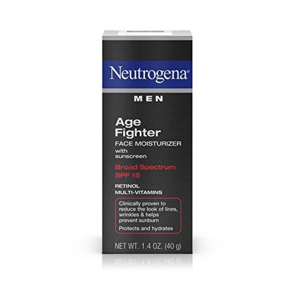 ギャンブル雑種荷物Neutrogena Men Age Fighter Face Moisturizer with sunscreen SPF 15 1.4oz.(40g) 男性用ニュートロジーナ メン エイジ ファイター フェイス モイスチャライザー