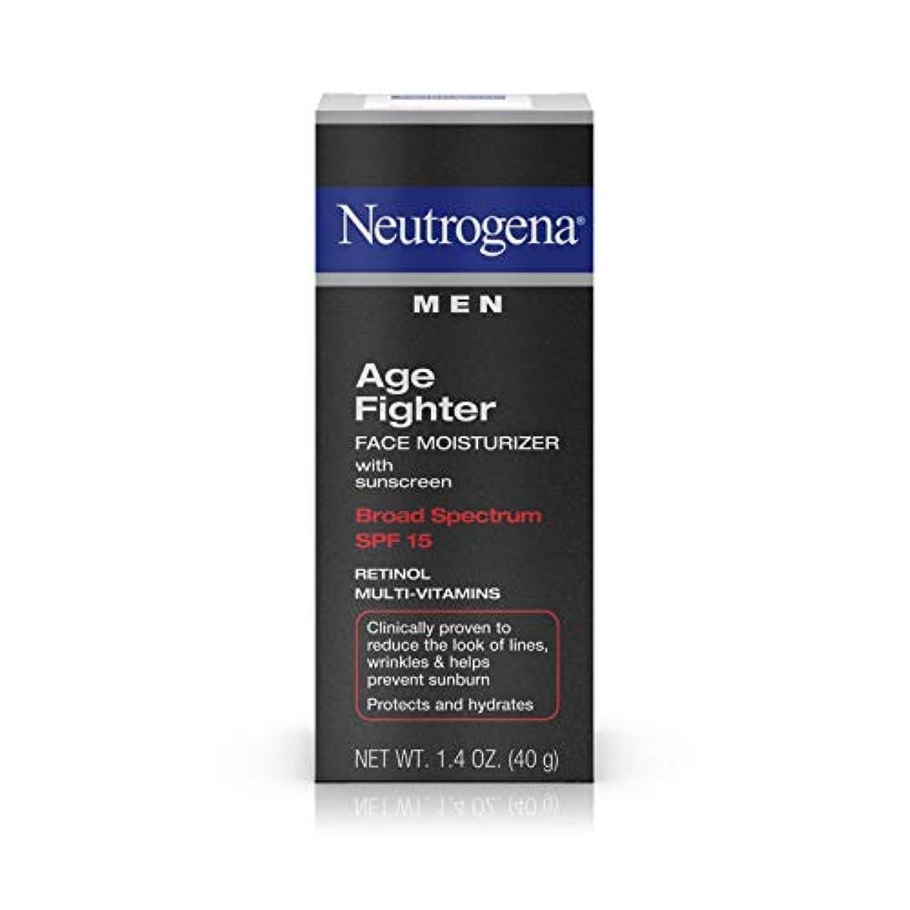 保有者取る計器Neutrogena Men Age Fighter Face Moisturizer with sunscreen SPF 15 1.4oz.(40g) 男性用ニュートロジーナ メン エイジ ファイター フェイス モイスチャライザー