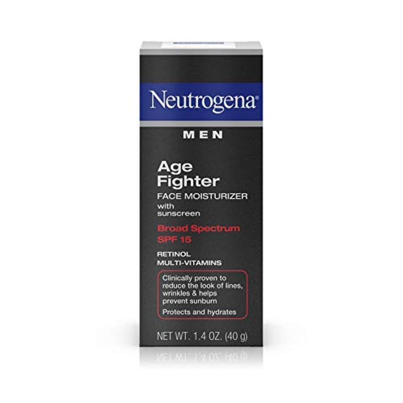 どこでもありふれた虎Neutrogena Men Age Fighter Face Moisturizer with sunscreen SPF 15 1.4oz.(40g) 男性用ニュートロジーナ メン エイジ ファイター フェイス モイスチャライザー