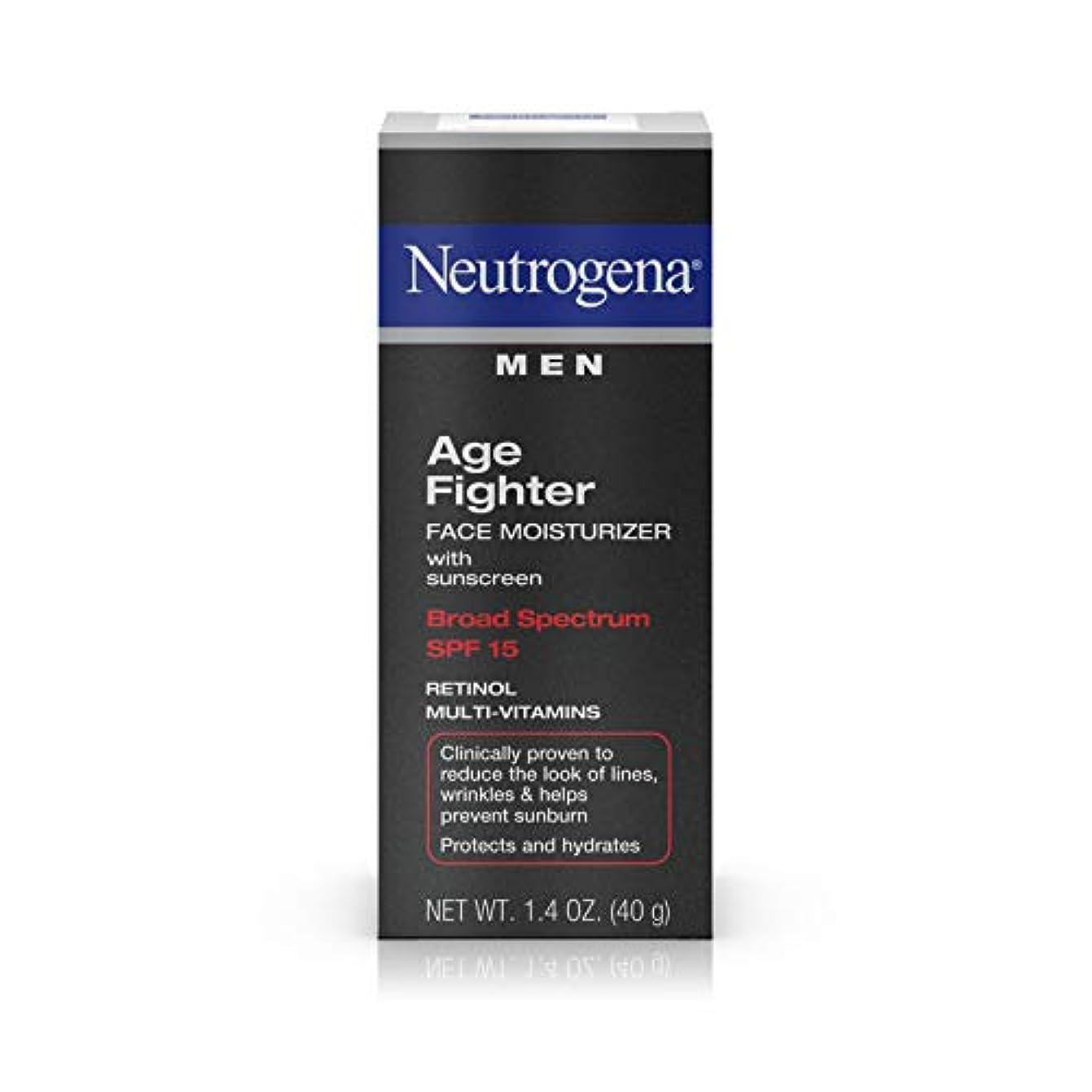 ブレース資本主義禁止Neutrogena Men Age Fighter Face Moisturizer with sunscreen SPF 15 1.4oz.(40g) 男性用ニュートロジーナ メン エイジ ファイター フェイス モイスチャライザー