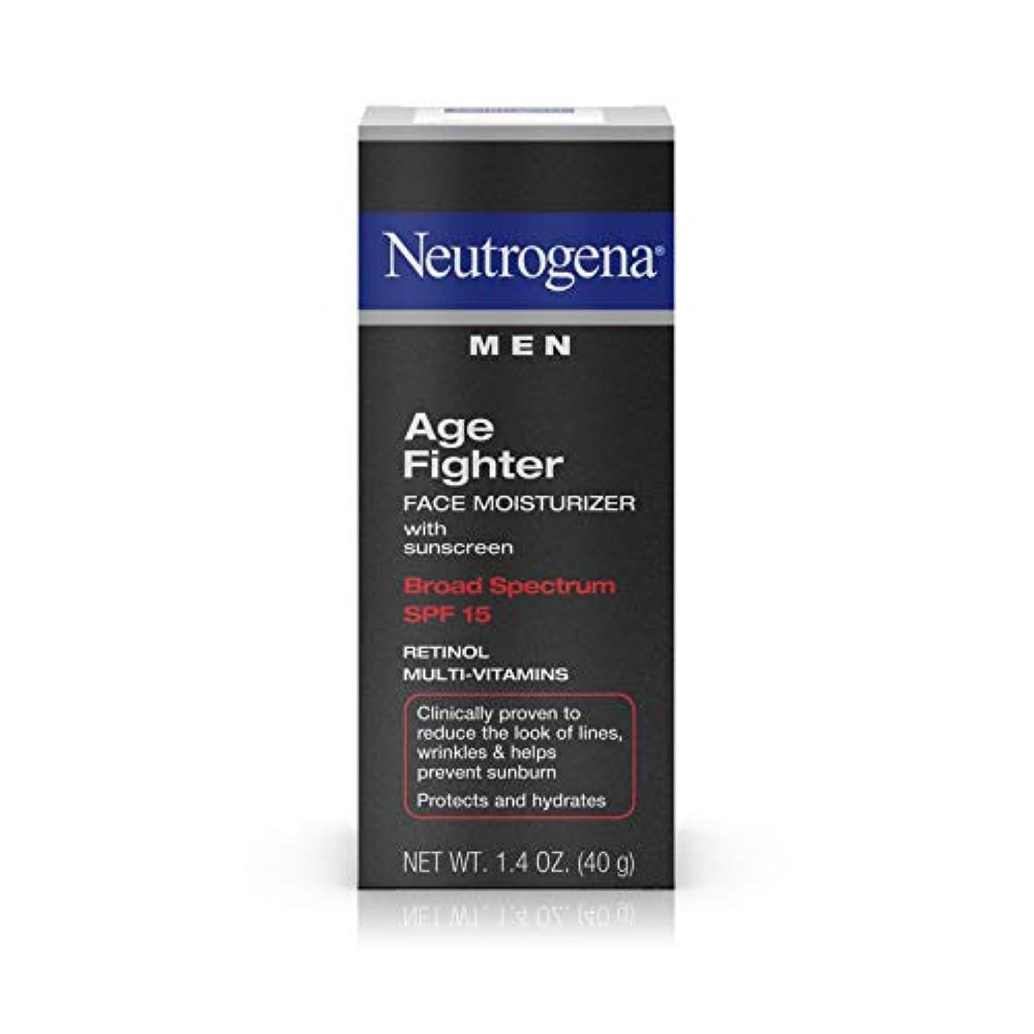 巡礼者順応性のあるゲームNeutrogena Men Age Fighter Face Moisturizer with sunscreen SPF 15 1.4oz.(40g) 男性用ニュートロジーナ メン エイジ ファイター フェイス モイスチャライザー