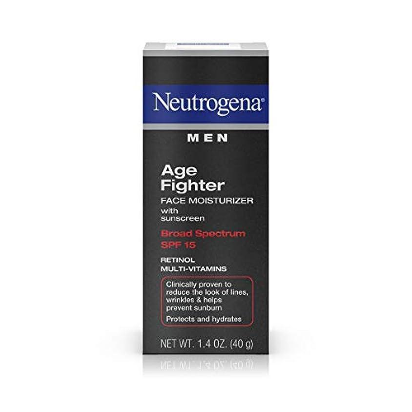 巨大ハウジング属性Neutrogena Men Age Fighter Face Moisturizer with sunscreen SPF 15 1.4oz.(40g) 男性用ニュートロジーナ メン エイジ ファイター フェイス モイスチャライザー