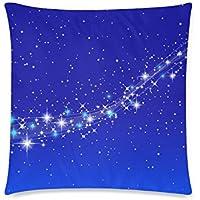 可愛い 子供 天の川と星空の風景 座布団 45cm×45cm
