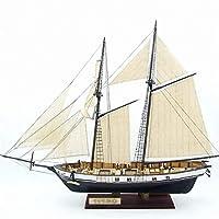 1:130スケールヨットモデル380x130x270mm DIY船組立モデルキット古典的な手作り木製帆船子供おもちゃギフト