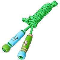 NUOLUX 縄跳び ジャンプロープ 子供用 木柄 長さ調節可能 幼児 運動会 体育祭
