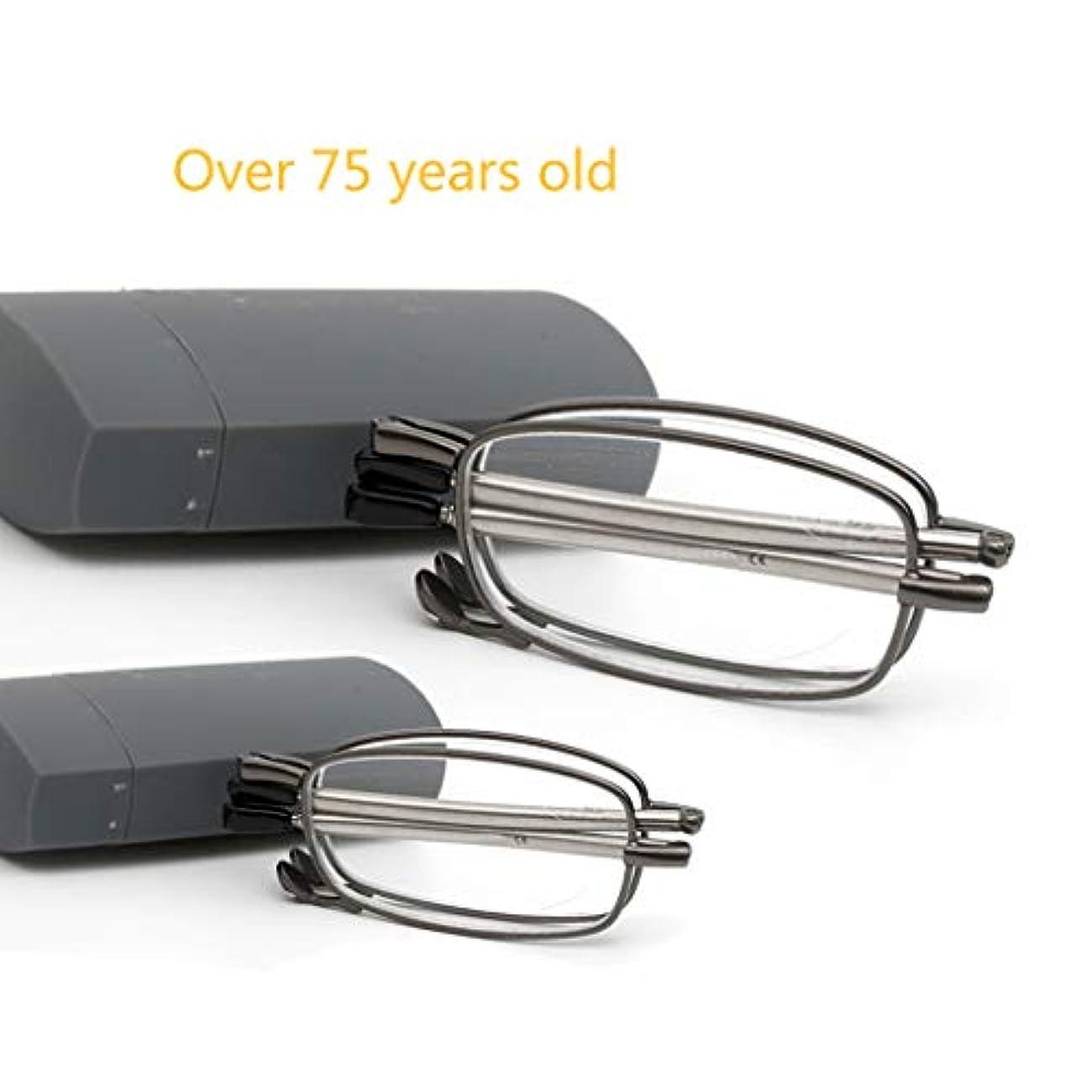 凍った切断する植生老眼鏡2ペアのスタイリッシュな折りたたみ、高精細老眼鏡。スリムでエレガントな引き込み式のテンプルを備えた3セクションデザインで、どんな顔の形にも適しています。