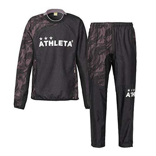 ATHLETA(アスレタ) メンズ ピステスーツ サッカー フットサル トレーニングウェア 02301 70BLK M