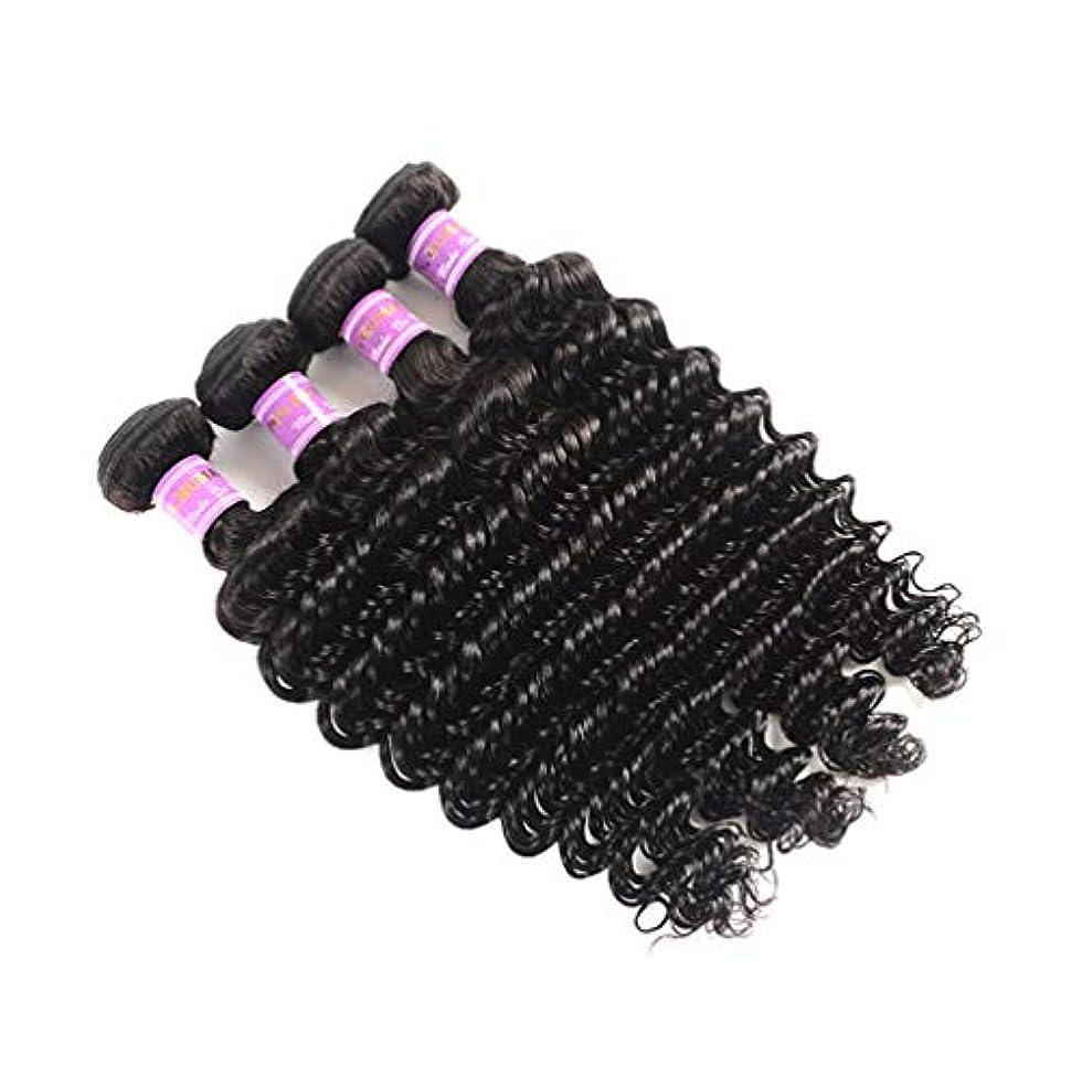 ワーカー才能センチメートル10A巻き毛3の束の人間の毛髪の織り方の未処理のマレーシアのバージンのRemyの毛延長自然で黒い色