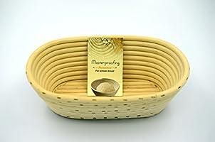 Masterproofing 2 Pcs Oval Banneton Proofing Basket(500g Dough)