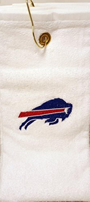 Buffalo Bills NFL刺繍ゴルフタオルW/フックホワイト