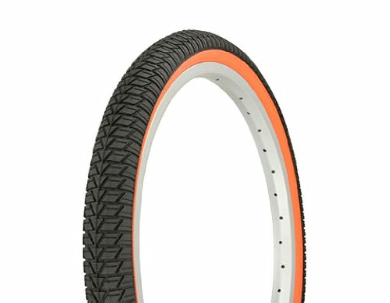 姿を消すステープル時代タイヤ デュロ 20インチ x 1.75インチ ブラック/オレンジ サイドウォール HF-864 自転車タイヤ 自転車タイヤ ローライダーバイクタイヤ ローライダー自転車タイヤ BMXバイクタイヤ チョッパーバイクタイヤ