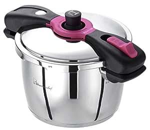 魔法のクイック料理 両手圧力鍋 5.5L 【超高圧140kPa】 (蒸しす・浜田陽子の80レシピ本付き) AQDA55