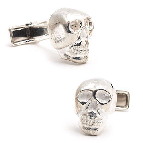 Ravi Ratan Sterling Silver Skull Cufflinks (RR-150) by Ravi Ratan [並行輸入品]