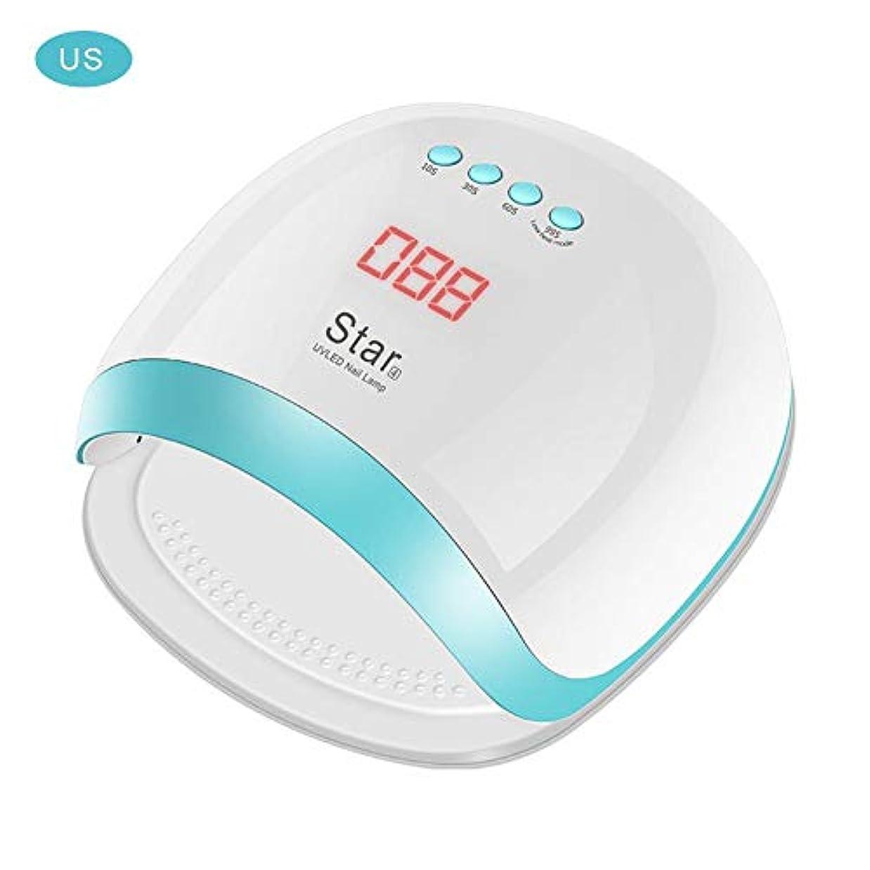エクスタシー会話狂人Ling(リンー)-ビューティー 硬化用LEDライト ネイルライト LED ネイルドライヤー 72W 使いやすい 設定可能 【ホワイト】
