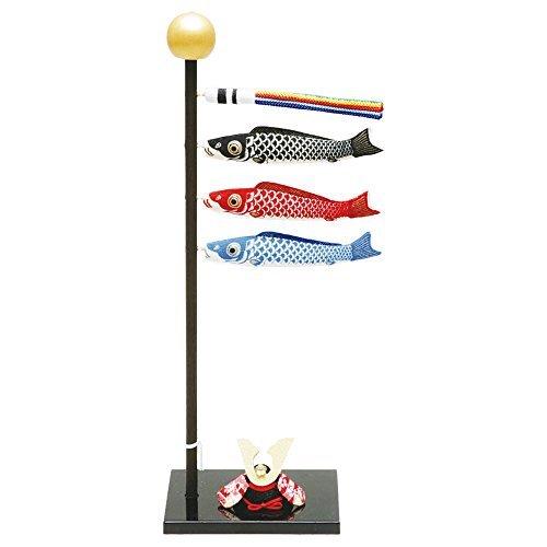 手作り五月人形ちりめん細工『(小)染め鯉のぼり』玄関にも飾れる小型室内タイプ