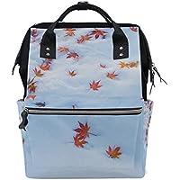 ママバッグ マザーズバッグ リュックサック ハンドバッグ 旅行用 雪 紅葉柄 ファション