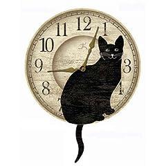 【並行輸入品】壁掛け時計 インフィニティーインスツルメンツ しっぽを振るネコ/Infinity Instruments Wagging Cat