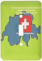 3drose LSP _ 47331_ 1マップとスイスの国旗with Swiss Confederation Printed英語で、ドイツ語、フランス語、イタリアSingle切り替えスイッチ