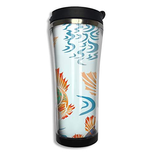 ブラックローズ 鯉 蓮の花 柳 タンブラー 水筒 コーヒーカ...