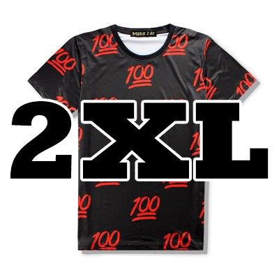 (Make 2 Be) 面白Tシャツ 100点 満載 スタイリッシュ Tシャツ Uネック MF44 (23.Black_2XL)
