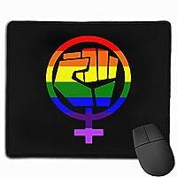 フェミニストシンボルレジストプライド拳レインボーフラッグコンピュータマウスパッドマウスパッドオフィスマット