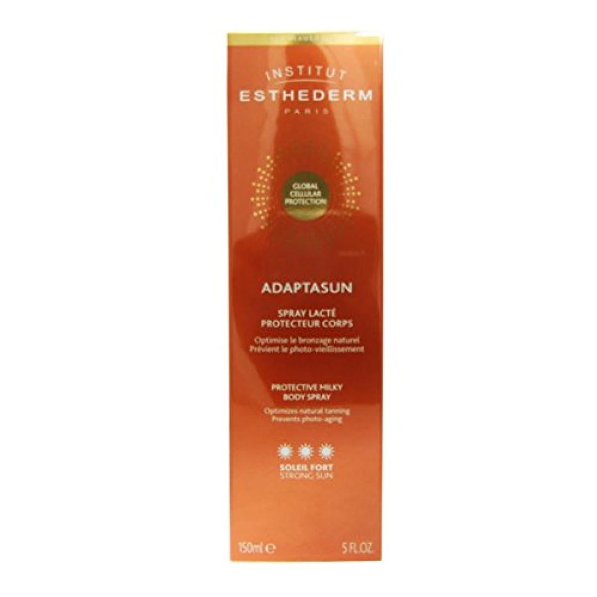 血統全能傷跡Institut Esthederm Adaptasun Protective Milky Body Spray Strong Sun 150ml [並行輸入品]